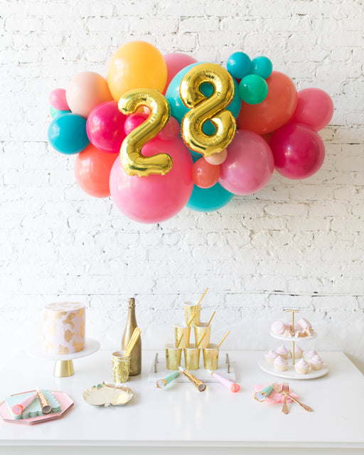 Tropical Time - Number Backdrop Balloon Garland Install Piece - 3ft