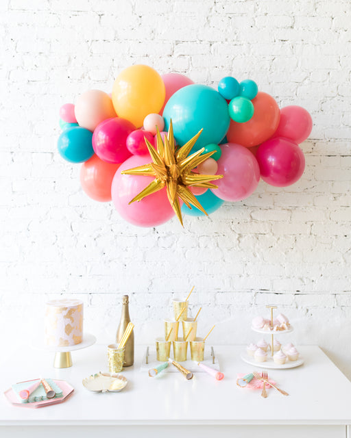 Tropical Time - Magic Star Backdrop Balloon Garland Install Piece - 3ft