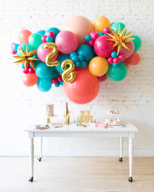 Tropical Time - Number Backdrop Balloon Garland Install Piece