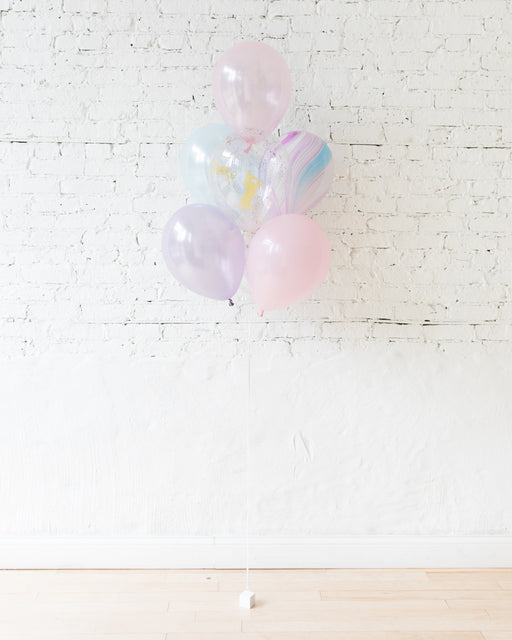 Unicorn Theme - 11in Balloons - bouquet of 7