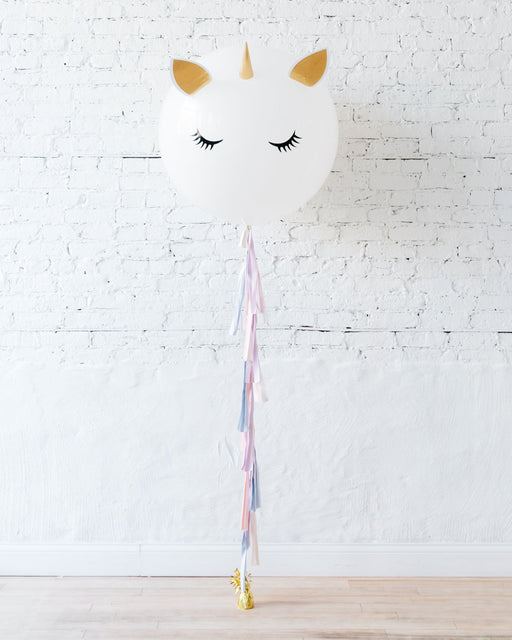 Unicorn Theme Specialty Unicorn Giant Balloon and Tassel