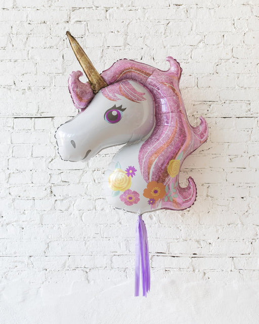 29in Unicorn Foil Balloon and Lavender Skirt