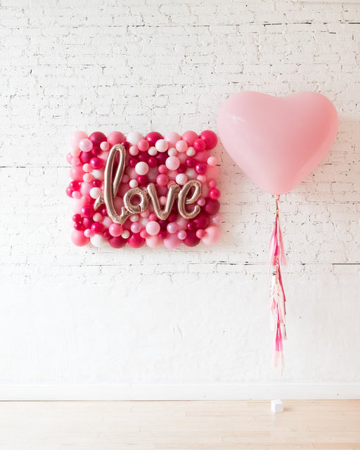 Shades of Pink Palette Love Board and Giant Pink Heart Balloon Set
