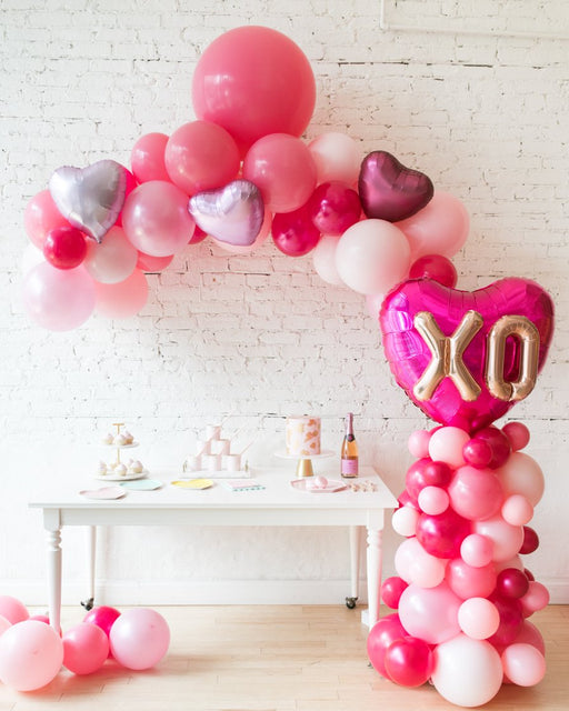 Shades of Pink Palette Floating Arch and Balloon Column Set