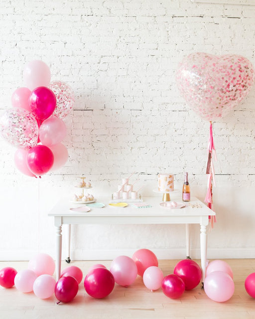 Shades of Pink Palette Confetti Bouquet and Giant Balloon Set