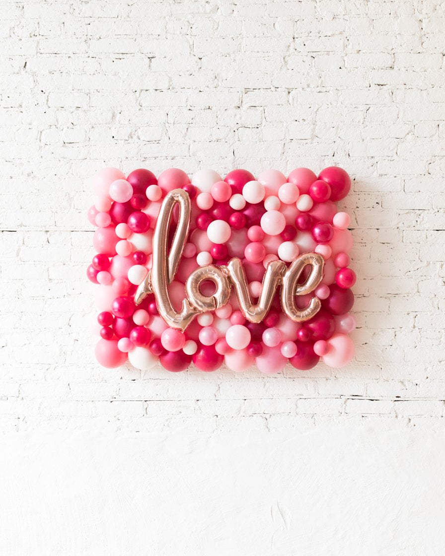 Shades of Pink Palette Love Balloon Backdrop Board - small
