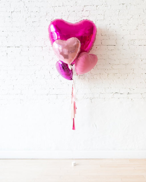 Hearts Balloon Bouquet with Tassel