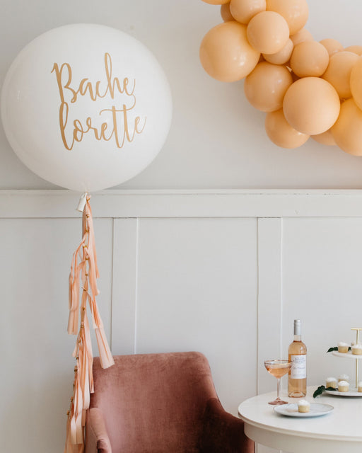 Bachelorette Giant Balloon and Blush Tassel