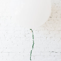 "Giant 36"" White Balloon With Thin Ivy Garland Local"