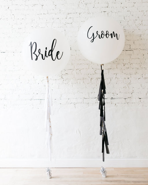 Bride & Groom Giant Balloon and Tassel Set