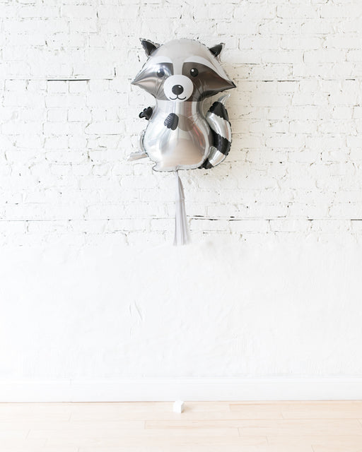 36in Racoon Foil Balloon and Grey Skirt