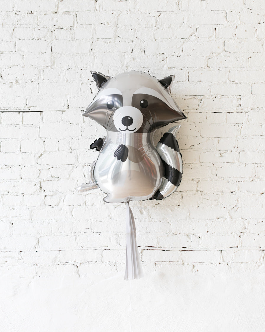 GIFT-36in Racoon Foil Balloon and Grey Skirt