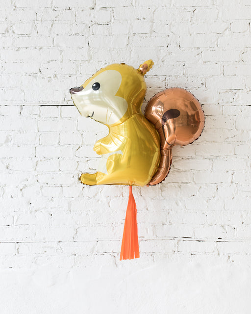 36in Squirrel Foil Balloon and Orange Skirt