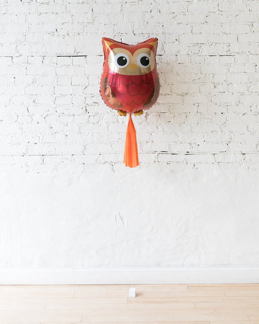26in Owl Foil Balloon and Orange Skirt