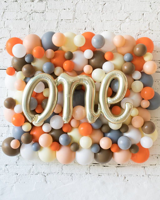Woodland Theme - ONE Script Balloon Backdrop Board - 30inx40in