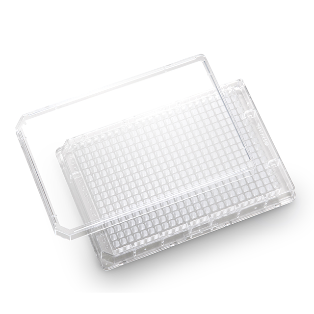 384 well, clear, flat bottom, TC treated, sterile, microplates, with lids - 30122305