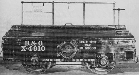 HO B&O Scale Car Decals (1920-1960+)