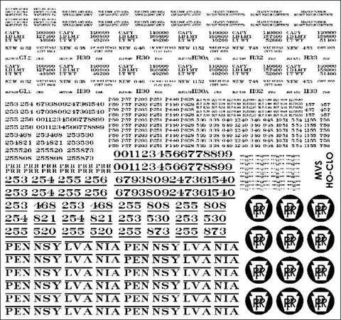 HO PRR Circle Keystone Covered Hopper Decals