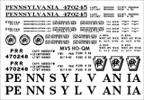 "HO PRR ""Queen Mary"" Flatcar Decals"