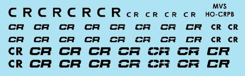 HO Conrail Black Patch Decals