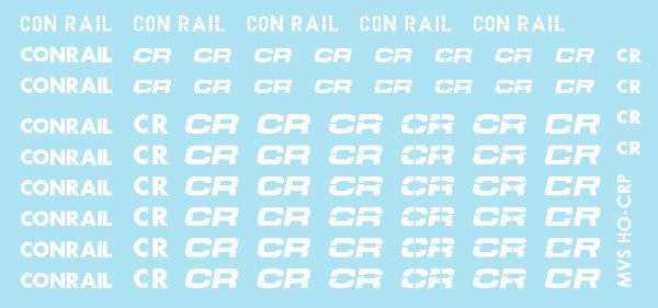 HO Conrail White Patch Decals