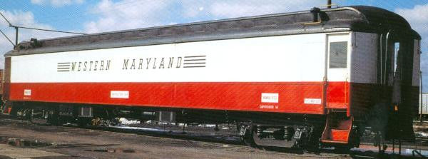 HO Western Maryland MOW RWB Passenger Car Decals