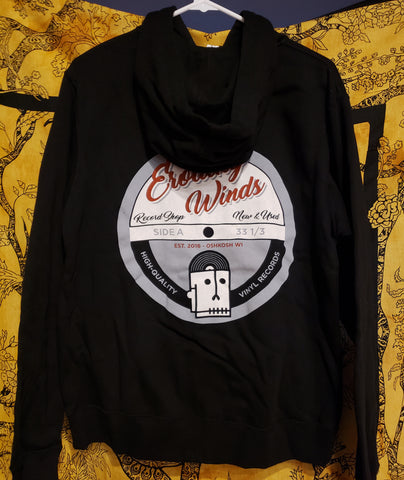 "Eroding Winds ""Skull Logo"" zip-up hooded sweatshirt"
