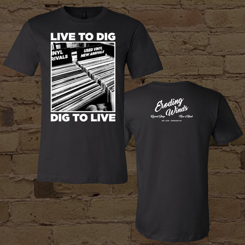 "Eroding Winds ""Live to Dig"" t-shirt"