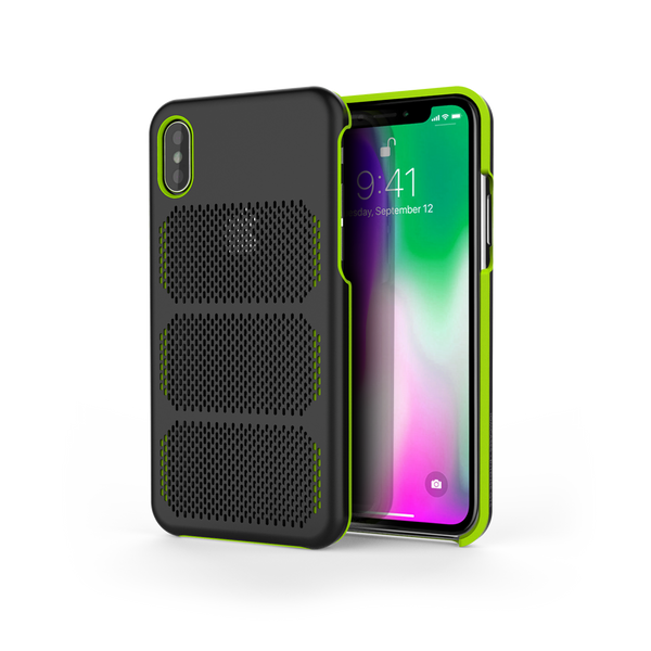 Extreme GTR for iPhone X Black / Lime Green Trim