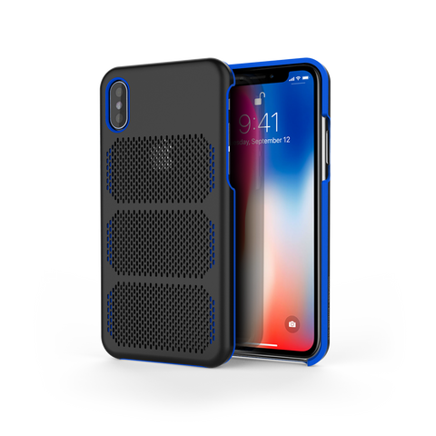 Extreme GTR for iPhone X Black / Exotic Blue Trim