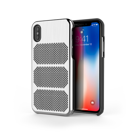 Extreme GTR for iPhone X Brushed Steel / Black Trim