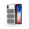 Extreme GTR for iPhone X Brushed Steel / Red Trim