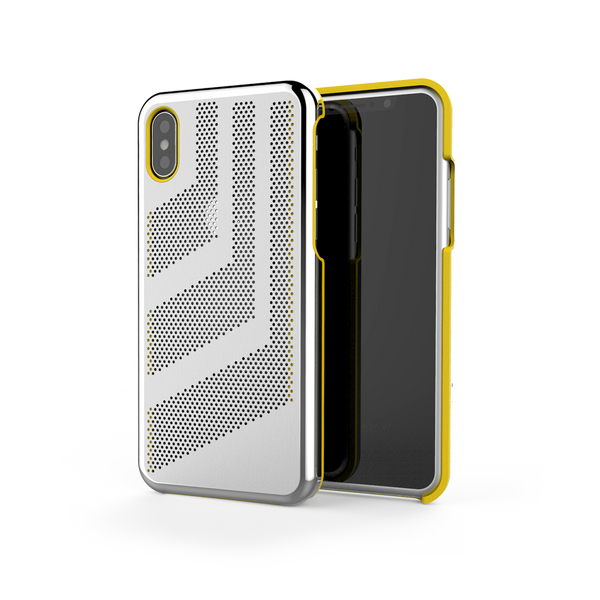 Intense GTS for iPhone X Brushed Steel /  Yellow Trim