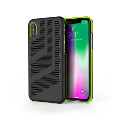 Intense GTS for iPhone X Black / Lime Green Trim