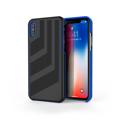 Intense GTS for iPhone X Black / Exotic Blue Trim