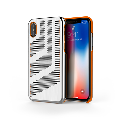 Intense GTS for iPhone X Brushed Steel /  Orange Trim