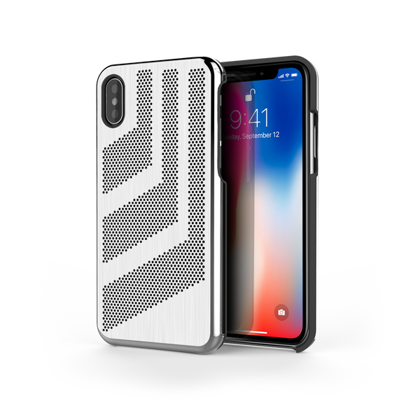 Intense GTS for iPhone X Brushed Steel /  Black Trim