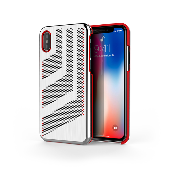 Intense GTS for iPhone X Brushed Steel /  Red Trim