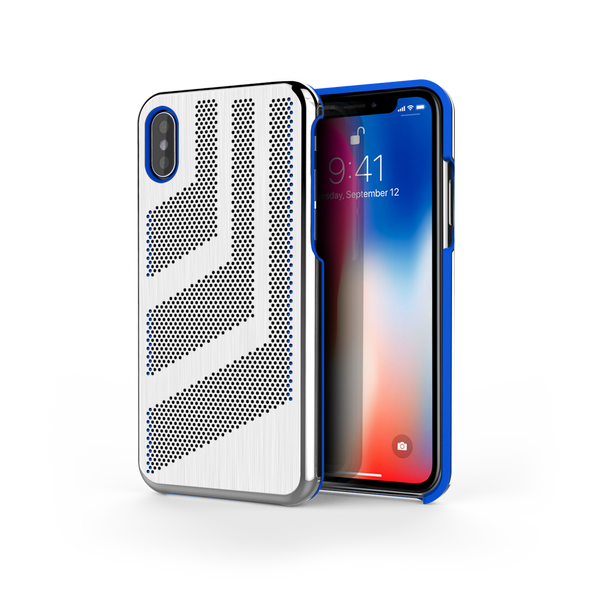 Intense GTS for iPhone X Brushed Steel /  Exotic Blue Trim