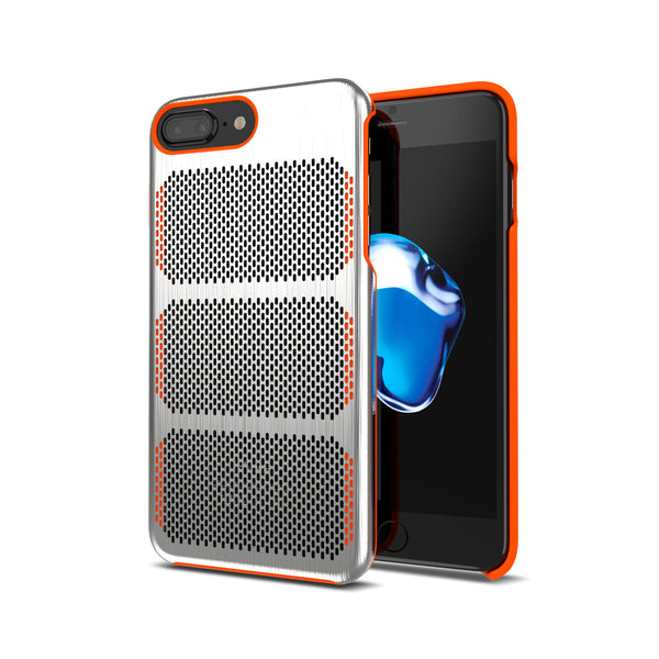 Extreme GT for iPhone 8 Plus Brushed Steel / Orange Trim