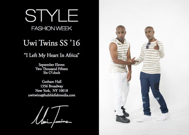 Uwi Twins SS'16 Collection at New York Fashion Week