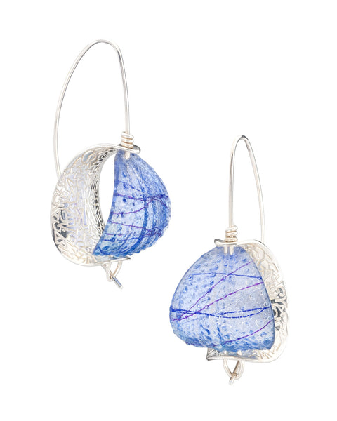 Periwinkle Retroflex Earrings (Large), 2017