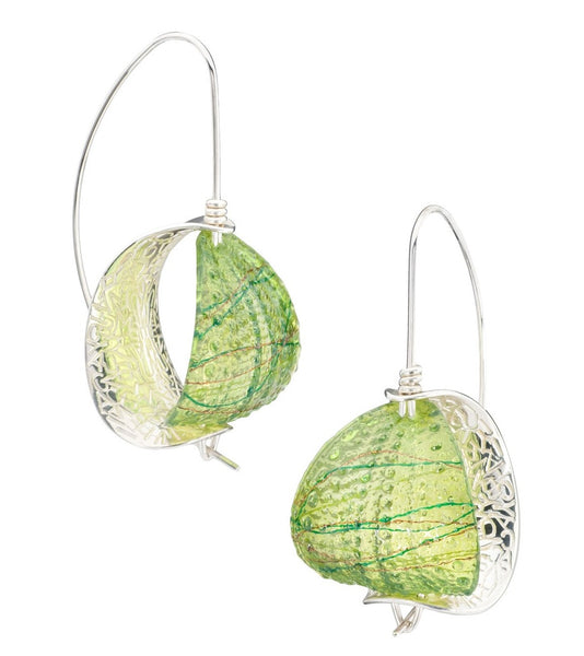 Peridot Retroflex Earrings (Large), 2018
