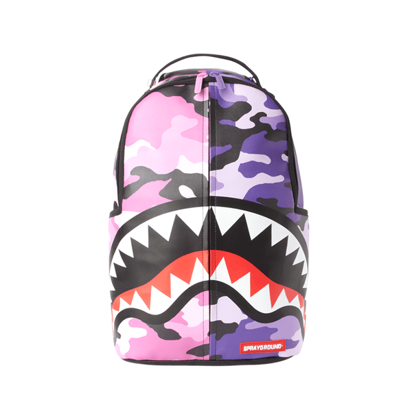[B3002] Sprayground Split Camo Backpack
