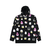 [L20W302015BLK] The Hundreds x Sanrio Heads Oversized Hoodie Black