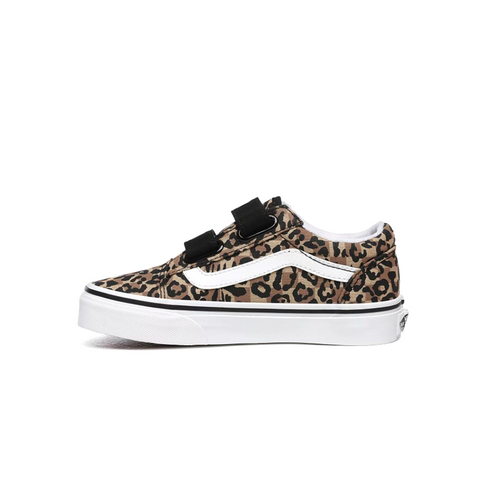 [VN0A4UI1WKA] Vans Animal Checkerboard Old Skool V Big Kids'(GS) Shoes