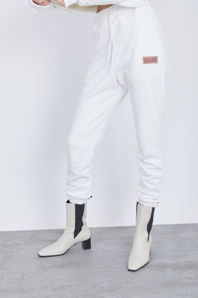 sweatpants - off white