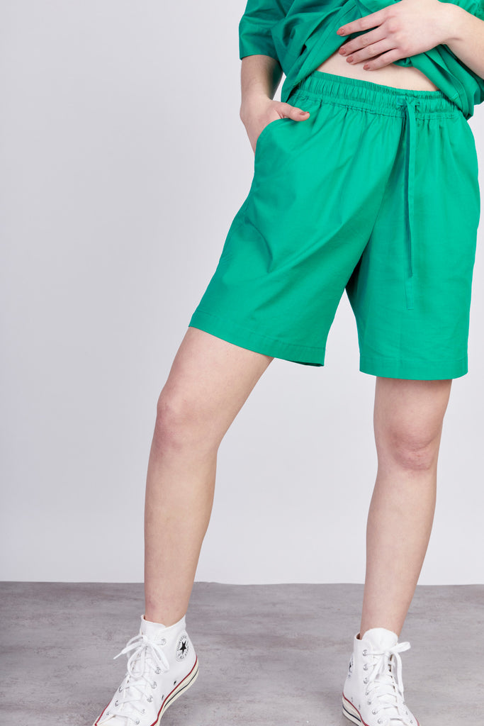 EMY COTTON SHORTS- green