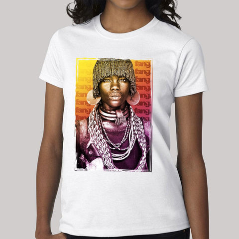 Women's T-Shirt Mursi Tribe