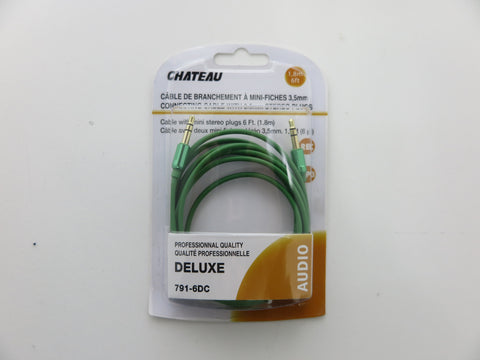 Cable AUX 3.5mm Stereo 3' Chateau